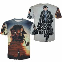 Wholesale Holmes Design - Sherlock Holmes Rock Loose T shirt Men UK US EURO Size S-XXXL Factory Custom Fashion New Art Design Summer Style Short Sleeve