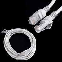 patch lan achat en gros de-100 pcs 1 m / 2 m / 3 m / 5 m RJ45 à RJ45 Lan CAT5 Câble Ethernet Patch Link Réseau LAN Câble blanc DHL gratuit
