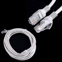 3m lan kabel großhandel-100 stücke 1 mt / 2 mt / 3 mt / 5 mt RJ45 zu RJ45 Lan CAT5 Kabel Ethernet Patch Link Netzwerk Lan Kabel weiß DHL frei