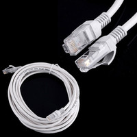 parche de 5m lan al por mayor-100 unids 1 m / 2 m / 3 m / 5 m RJ45 a RJ45 LAN CAT5 Cable Ethernet Patch Link Red Lan Cable blanco DHL libre