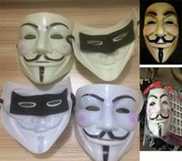 Wholesale Guys Music - 4 Color V for Vendetta Mask Guy Fawkes Anonymous Halloween Masks Unisex Cartoon Movie Fancy Dress Cosplay Masquerade Party Mask Gifts WX-C04