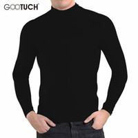 Wholesale Mens White Cotton Underwear - Brand Plus Size Cotton Mens Thermal Underwear Winter Style High Collar Long Johns Long Sleeve Tops Undershirt 4XL 5XL 6XL G 2455