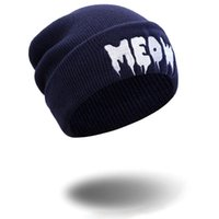 Livraison gratuite New Fashion Women Men Sport Skull Cap Broderie Cute Cartoon Beanie Hip Hop Chapeaux
