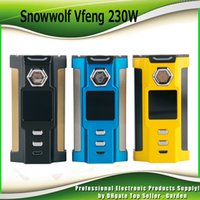 Wholesale Metal Cell - Original SnowWolf Vfeng Vape Box Mod 230W TC Mods Atomizer Dual 18650 Cells 1.30 Inch Color LED Screen Update Sigelei Kaos 100% Authentic