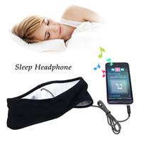 ingrosso cuffie antirumore-Cuffie Sleeping Sleeping Thin Lycra Tessuto sportivo Sleeping Cuffie anti-rumore Running Sweatband Cuffie stereo Headband