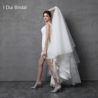 Wholesale Pictures Factory - Wedding Dress with Detachable Skirt Illusion Lace Back Two Way Long Short Factory Custom Make Vestidos Casamento