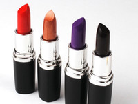 Wholesale Wholesale Gothic Wear - Gothic Luster Lipstick Frost Matte Lipstick Hallowmas COSPLAY vampire party Makeup Lipgloss cosmetics 8colors gift drop shipping
