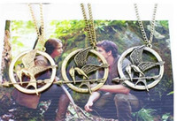 Wholesale Authentic Props - The Hunger Games Necklaces Inspired Mockingjay And Arrow Pendant Necklace, Authentic Prop imitation Jewelry Katniss Movie D800