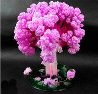 Wholesale japanese blossom tree for sale - Group buy iWish x11cm Visual Japan Pink Big Magic Grow Paper Japanese Sakura Tree Magically Growing Trees Kit Desktop Cherry Blossom Kids Toys