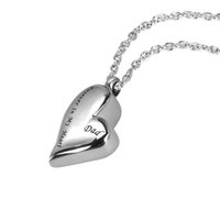 Wholesale Forever Bags - Stainless Steel Family Forever In My Heart Cremation Jewelry Keepsake Memorial Urn NecklaceWith Gift Bag and Funnel