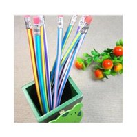 Wholesale DHL Creative Stationery Magic Soft Pencil Flexible Plastic Pencil Easily Bend Pencil