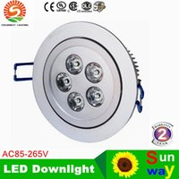 Wholesale High Red Ceilings - Led Ceiling Light 5X3W High Quality Dimmable 110V 220v Non-dimmable 15w 85-265V LED Down light Indoor Lighting