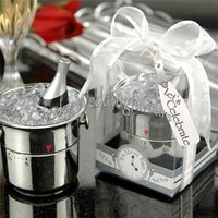 Wholesale bomboniere gift favours for sale - Group buy sets Creative Home Party Favors Champagne Kitchen Timers Bridal Shower Event Gifts Wedding Birthday Favours Bomboniere
