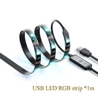 éclairage de vélo flexible achat en gros de-50cm 1M 2m 5V USB LED bande 5050 RVB lumière flexible IP65 étanche 30LED / m RVB Blanc Bleu vélo vélo TV Bande d'éclairage de fond