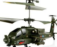 helicópteros de interior al por mayor-SYMA S109G Mini 3.5CH RC Helicóptero AH-64 Helicóptero Apache helicópteros de combate Simulación Radio Control remoto Juguetes para el regalo b667