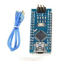 Wholesale Arduino Board Usb - ATmega328P Nano V3.0 Mini USB 5V 16M Micro-controller Board CH340G latest version Arduino Cable