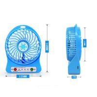 Wholesale Emergency Fan - Mini Portable Rechargeable USB fan mute strong winds third gear handheld electric fan blowing DHL freeshipping