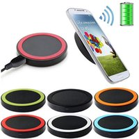Wholesale cell phone charging pads for sale – best 10pcs Qi Wireless Charger Cell phone Mini Charge Pad For Qi abled device Samsung nokia htc LG cellphone with retail package