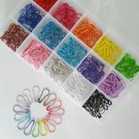 Wholesale Stitch Pins - 300 pcs set fashion pear shaped safety pin locking stitch markers 15 colors each color 20 pcs