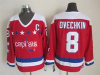 ovechkin number - 2016 New Washington Alex Ovechkin Mens Ice Winter Hockey Jerseys red CCM Vintage Throwback Stitched Name Number drop ship mix order