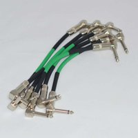 """Wholesale Guitar Cords - NEW 6-Pack TTONE 6"""" 1 4 Right Angle Patch Cable Guitar Cord Effect"""