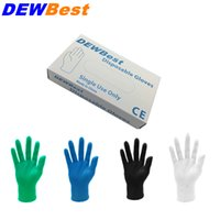 Wholesale Latex Gloves Wholesale Free Shipping - DEWBest Free shipping high quality Black Nitrile Gloves Disposable Nitrile Oil and Acis Wholesale Industrializationd Latex Glove