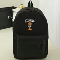 Wholesale Two Cute Boys - Garfield backpack Cat star school bag Cute cartoon animal characters day pack Hot sale game daypack