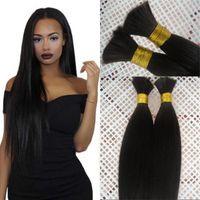 Wholesale silky braiding hair for sale - High Quality Indian Human Hair Bulk Bundles Natural Color Silky Straight Braiding Hair Bulk inch FDSHINE