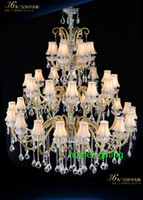 Wholesale crystal light shades resale online - big hall chandeliers indoor hotel modern living chandelier maria theresa modern hall chandeliers with shade hotel hallway light