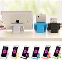 Wholesale Pc Tablet Zte - Universal Hard PC Mobile Phone Tablet Holder Desk Stand for iPhone 7 Plus Samsung s8 plus ZTE Max XL with Retail package
