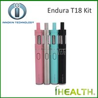 Wholesale innokin endura resale online - Innokin Endura T18 Starter Kit All in One Style Kit mah Rechargable T18 Battery with ml Top Refilling Prism T18 Tank