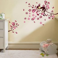 Wholesale Traditional Chinese Images - Chinese Style Wall Sticker sleeping Monkey Image Home Decor Art Wallpaper Multicolored