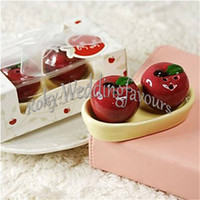 Wholesale apple gift ideas - DHL Sets Apple of My Eye Salt Pepper Shakers Wedding Favors Baby Shower Party Events Gifts Souvenirs Keepsake Idea
