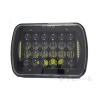 Wholesale led headlights inch for sale - Group buy 5x7 inch headlight w DRL led headlights for Jeep Wrangler YJ Cherokee XJ Comanche x4 D Trucks