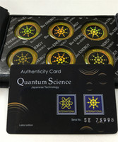 Wholesale Mobile Phone Anti Radiation - Quantum Science shield anti radiation Mobile phone sticker silver golden free shipping 12pcs lot