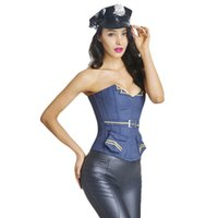 Wholesale Sexy Lingerie Costume Police - S-XXL New Hot Sale Police Cops Shapewear Lingerie Sexy Nevy Blue Waist Training Corset Costume Plus Size Shaper Sexy Lingerie W46241