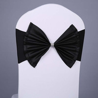 Wholesale Nice Events - Classic Fashion Elastic Bow Chair Sashes Wedding Decoration Spandex Sash for Chair Cover Nice Design Sahes For Events and Banquet