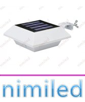 Wholesale Wholesale Portable Sinks - nimi1042 4 LED IP44 Polysilicon Solar Power Panel Lights Outdoor Fence Patio Garden Light Super Bright LED Home Wall Lighting Roof Sink Lamp