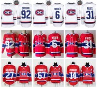 Wholesale Red Ads - 2018 AD 100th Montreal Canadiens 31 Carey Price 6 Shea Weber 92 Jonathan Drouin Galchenyuk Pacioretty Shaw Gallagher Plekanec Hockey Jerseys