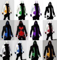 абажурские цвета с капюшоном оптовых-Высокое quality12 цветов горячие продажи дизайнер толстовки Assassins Creed 3 III Коннер Кенуэй НХЛ толстовки пальто куртка косплей костюм толстовки для мужчин