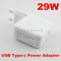 "Wholesale Eu Plug Macbook - Wholesale-High Quality 29W USB 3.1 Type-c Power Adapter Travel Wall Charger for Macbook Mac NEW 12"" 2016 latest US UK AU EU Plug adaptor"