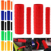Wholesale Motorcycle Handle Grip Covers - 1 Pair 106 MM Soft TRP Motorcycle Handle Grips with Pattern and 2 Pcs Handbrake Covers for Motorcycle MOT_10D