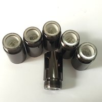 Wholesale Good Waxing - Good quality Puffco Vaporizer Skillet Atomizer Wax Vaporizer Clone with Dual quartz Coil Gun Metal Color for 510 thread battery