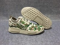 Wholesale Camo Golf Shoes - Camo NMD Runner Primeknit AAA+ Quality NMD Runner Sports Shoes NMD Running Boost NMD Sneakers NMD Shoes Ship with Box 2016 New NMD Boosts