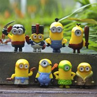 Wholesale 8pcs set Despicable ME Character Display Action Figures Kid Toys Cartoon Movie PVC Action Anime Figures