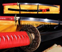Wholesale Handmade Damascus Swords - HANDMADE DAMASCUS FOLDED STEEL JAPANESE SAMURAI SWORD KATANA