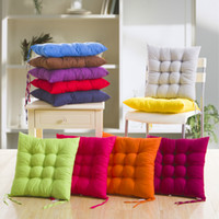 Wholesale office sofa designs - Soft Cushion Home Office Sofa Chair Tatami Cushions Binding Strap Design Solid Color Pillow In Autumn And Winter 4pj F R