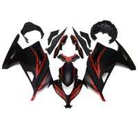 Wholesale Plastic Fairings For Kawasaki Ninja EX300R EX R ABS Injection Plastic Motorcycle Full Fairing Kit Flat Black Red
