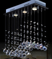 plafón rectangular moderno al por mayor-Cocina de techo suspendido iluminación led moderna lámpara de techo de cristal lámpara de cristal de techo rectangular de lujo 9080D03C #