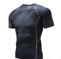 outdoor-shirts für männer großhandel-Fitnessanzug Outdoor-Sportstrumpfhosen Laufbasketball Fußballtraining Tarnung kurzärmeliges, schnell trocknendes T-Shirt Männer
